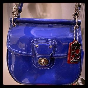 Coach 21244 Large Willis cobalt blue purse